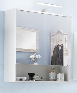 Bad-Spiegelschrank weiss WC-Spiegelschrank weiss - (3308) | im Möbel ...