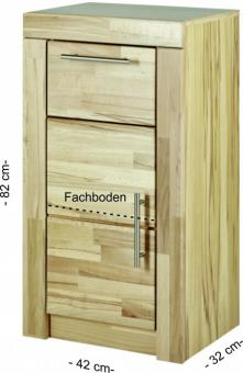 Bad-Unterschrank WC-Schrank Bad-Kommode Kernbuche - (4034)