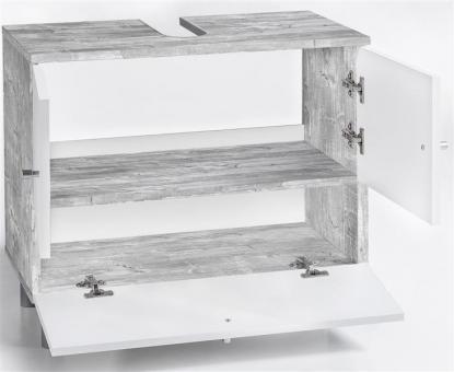 bad unterschrank weiss grau gecheckt. Black Bedroom Furniture Sets. Home Design Ideas