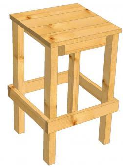 Barhocker aus Lärche Barhocker passend zum Partytisch Kneipenhocker - (3030)