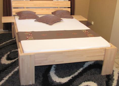 Bett 140x200 Buche Liegehöhe 49cm Doppelbett Komfortbett - (4039)