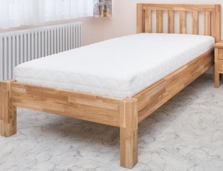 Bett mit Überlänge 120x220 cm - massives Einzelbett in Eiche mit Liegefläche 120x220cm - (2762)