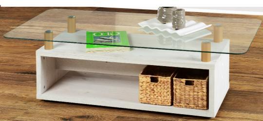 Couchtisch weiss wohnzimmertisch beistelltisch glastisch for Glastisch wohnzimmertisch