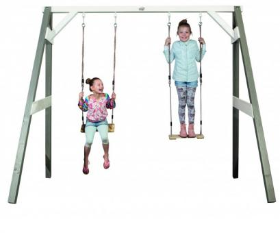 Doppelschaukel für Kinder Holzschaukel Kinderschaukel Gartenschaukel - (3094)