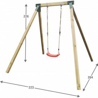 Einzelschaukel für Kinder Holzschaukel Kinderschaukel Gartenschaukel - (4006)