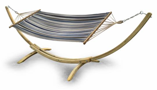 Hammock Hängematte auf Holzkonstruktion freistehende Hängematte - (3673)