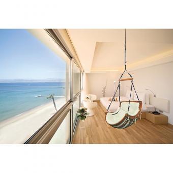 Hängesessel Hanging Chair Hamak Hängestuhl outdoor indoor Bezug beige - (3679)