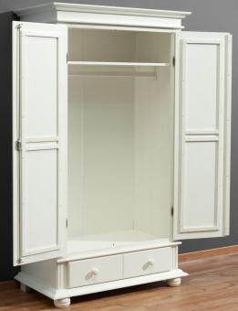 Kleiderschrank Mehrzweckschrank Fichte weiss Garderobenschrank weiss - (725)