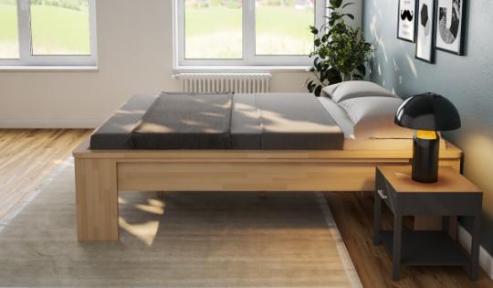 Komfortbett 160x200 erhöhtes Bett Buche Hotelbett Holzbett Seniorenbett - (4144)