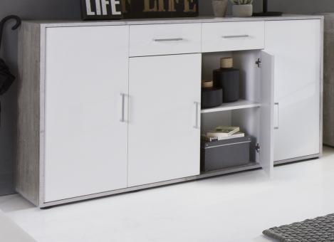 kommodenprogramm 22 kommode beton farbig sideboard anrichte grau gescheckt weiss 3492 im. Black Bedroom Furniture Sets. Home Design Ideas