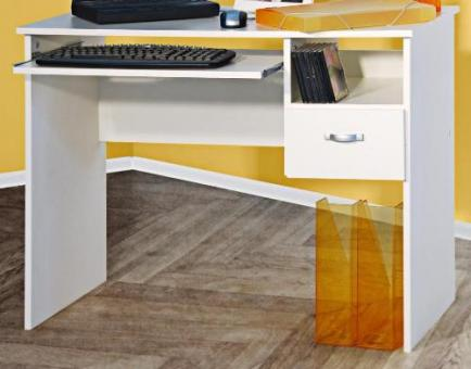 pc tisch computertisch weiss sch lerschreibtisch weiss. Black Bedroom Furniture Sets. Home Design Ideas