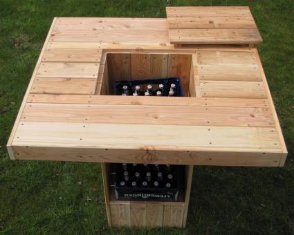 Partytisch für drinnen oder draussen rustikaler Stehtisch - (3029)