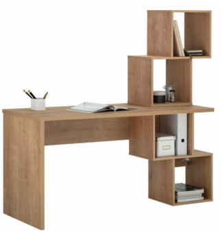 Schreibtisch mit 4 offenen Fächern Bürotisch chalet Eiche - (4186)