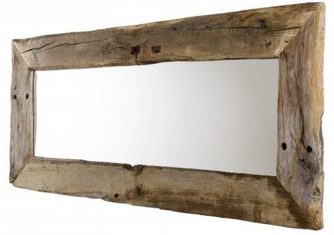 Spiegel aus Eiche Altholz 180cm breit Wandspiegel Wohnzimmerspiegel - (2572)