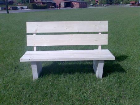 gemütliche Gartenbank Fichte Sitzlänge 140 cm Holz ist natürlich und unbehandelt Parkbank - (3025)