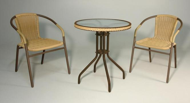 3 Teiliges Set Outdoormöbel Tisch Und 2 Sessel 3475 Im Möbel