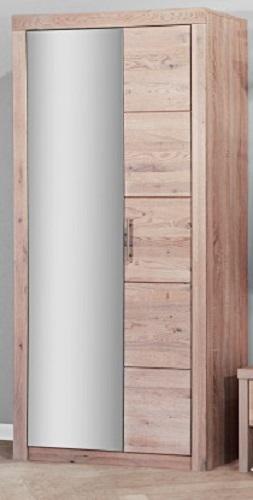 dielenschrank garderobenschrank mit spiegel eiche sonoma 1442 im m bel onlineshop bv gmbh. Black Bedroom Furniture Sets. Home Design Ideas