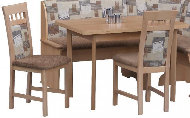 Essgruppe, Küchentisch ausziehbar und 2 Stühlen Buche - Tischgruppe ...