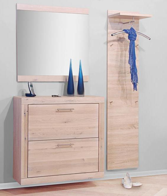 garderobe eiche sonoma garderobenset dielenset eiche 1434 im m bel onlineshop bv gmbh. Black Bedroom Furniture Sets. Home Design Ideas