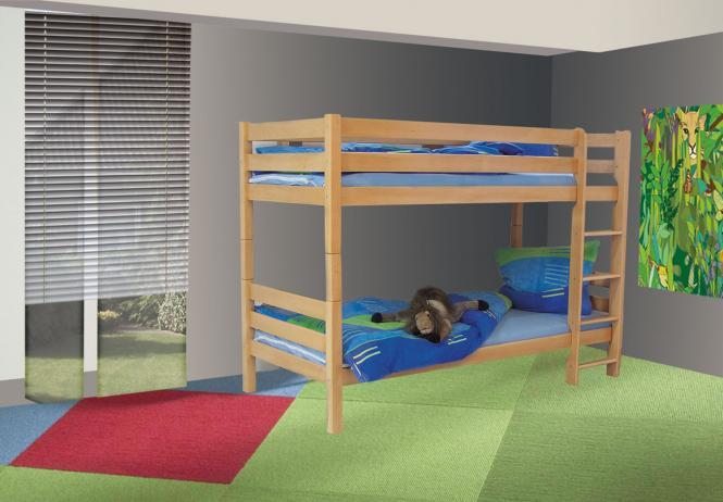 Etagenbett Buche Massiv : Kinder etagenbett buche massiv inklusive lattenrost 494 im