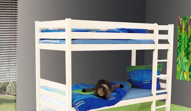 Etagenbett Lattenrost : Kinderbett etagenbett weiss inklusive lattenrost im