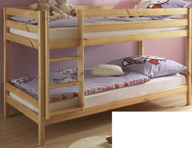Etagenbett Kiefer : Kinderbett mit leiter etagenbett liegeflächen jeweils