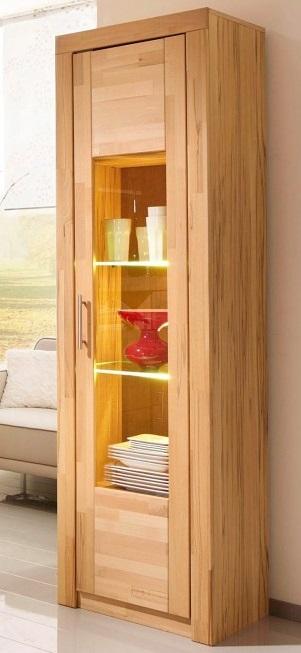 wohnzimmer vitrine, vitrine - glasvitrine kernbuche - wohnzimmervitrine kernbuche, Design ideen