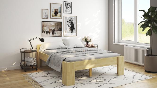 Erhohtes Doppelbett 180x200 Ehebett Buche Mit Einhangetischen Senioren Doppelbett 2993 Im Mobel Onlineshop Bv Gmbh
