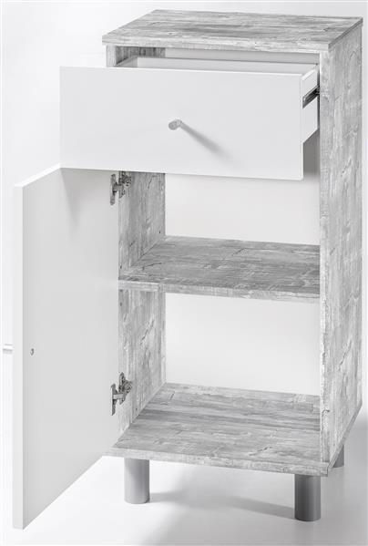 g nstiger bad schrank weiss grau gecheckt dekor bad unterschrank 2861 im m bel. Black Bedroom Furniture Sets. Home Design Ideas