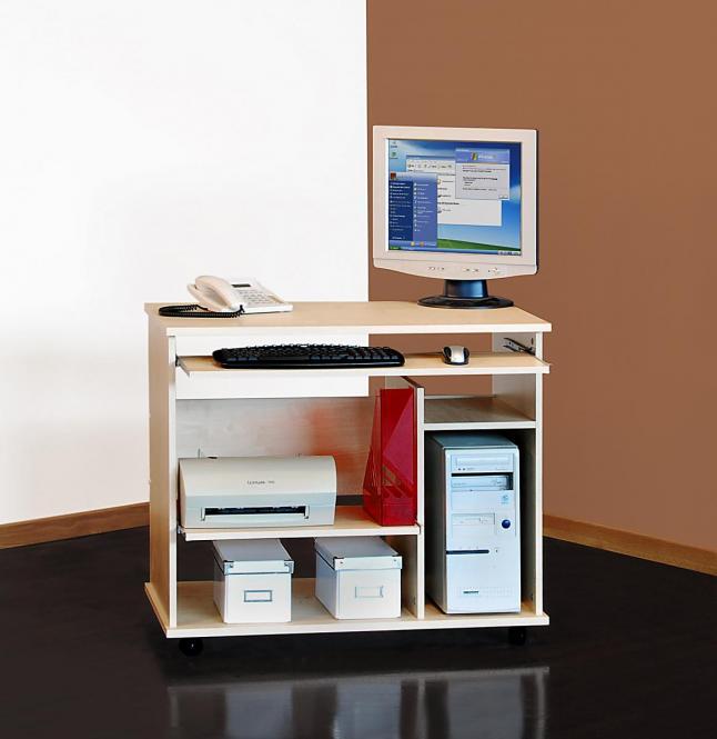 Computertisch ahorn schreibtisch pc tisch ahorn 325 for Tisch ahorn