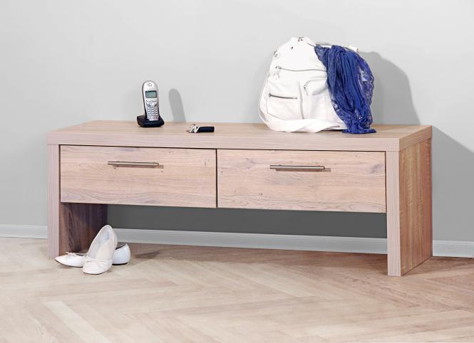 garderobenbank eiche sonoma bank sitzbank eiche sonoma 1435 im m bel onlineshop bv gmbh. Black Bedroom Furniture Sets. Home Design Ideas