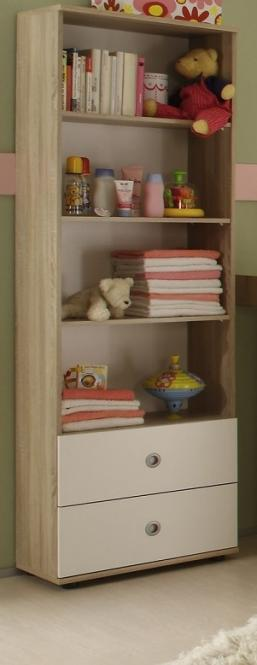 standregal regal b cherregal f r kinder sonoma eiche weiss. Black Bedroom Furniture Sets. Home Design Ideas