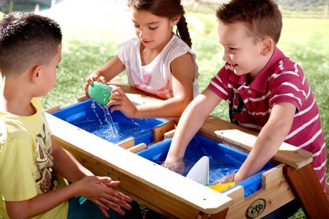 sand wasser spieltisch holz kindertisch f r wasserspiele kindertisch 3027 im m bel. Black Bedroom Furniture Sets. Home Design Ideas