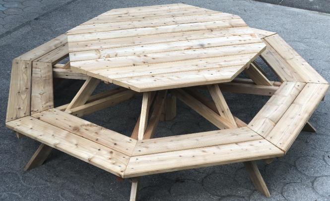 sitzgruppe f r 8 kinder achteck bank mit tisch f r kinder. Black Bedroom Furniture Sets. Home Design Ideas
